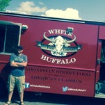 Clam Jammers food truck from Rhode Island was transformed in a Pine Street parking lot into White Buffalo Food Company, which will be parked at locations in Burlington's South End.