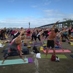 Yoga on the Steps event