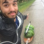 """""""This photo was in Wisconsin,"""" James McGary writes. """"I had to ride 40 miles in the pouring rain, so I stayed positive and enjoyed it."""""""