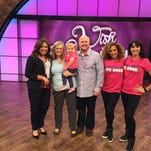 Rachael Ray, left, with Audrey Nethery and her parents and Zumba instructors.