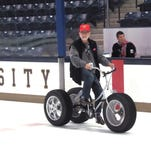 Our reporter puts the pedal to the metal, or at least to the ice.
