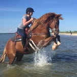 Chincoteague 'Feather Fund' ponies return for a ride