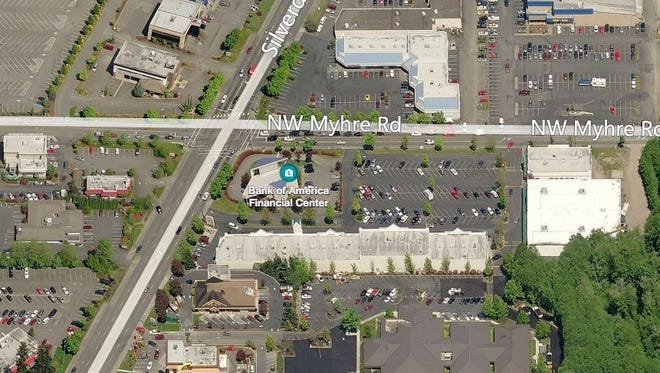 A Bank of America branch in Silverdale will close in May.