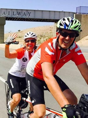 Carol and Bob Hollowell traveled nearly 4,000 miles across the U.S. on a tandem bike to raise awareness and learn more about efforts to combat homelessness.
