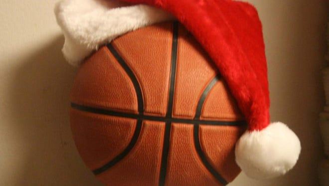 Christmas basketball.