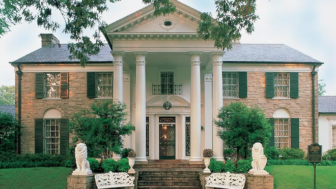 Every year, about 600,000 people visit Graceland, Elvis' former home.