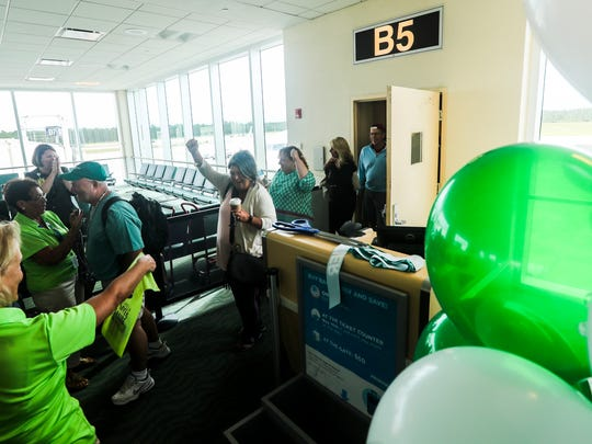 Frontier is bringing new routes to Southwest Florida International Airport. This first flight is  an arrival from Islip, Long Island, New York.