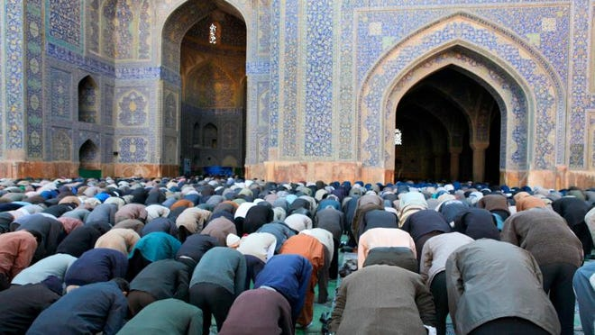 Muslim Friday mass prayer in Iran