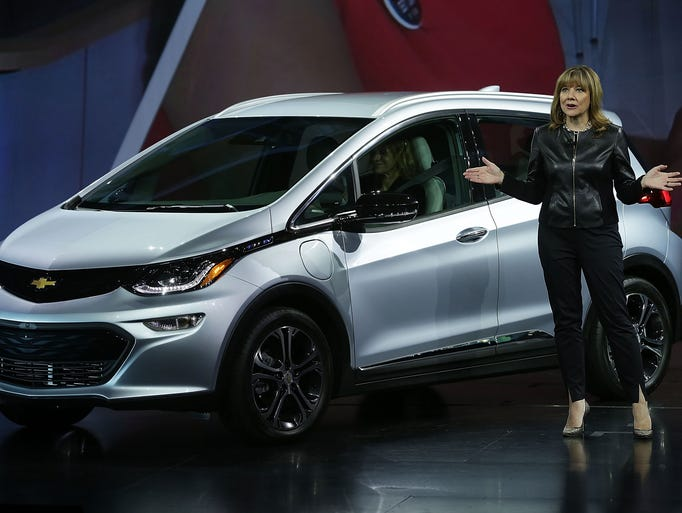 General Motors Co. Chairman and CEO Mary Barra introduces