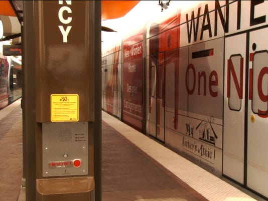 Safe Place emergency contact at light-rail station