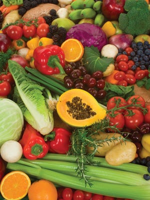 Healthful meals start with organic vegetables and fruits.