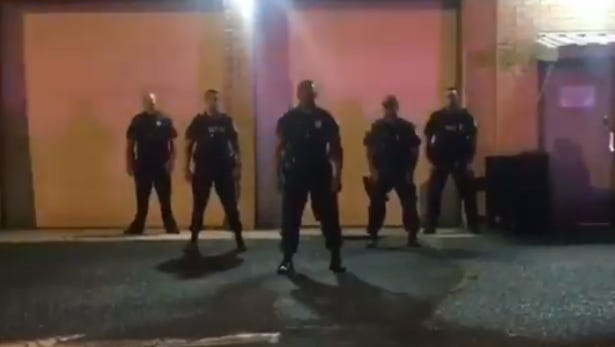 Members of the Millville Police Department take part in the #LipSyncBattle.