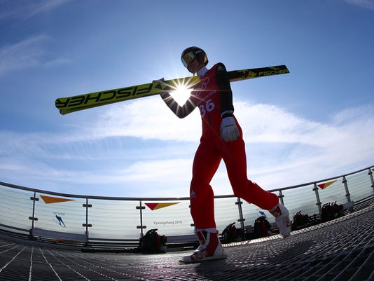 USP OLYMPICS: SKI JUMPING TRAINING S OLY KOR