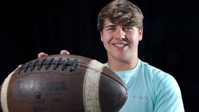 Franklin Christian Academy senior Braydon Holcomb received a football scholarship to play for Carson Newman.