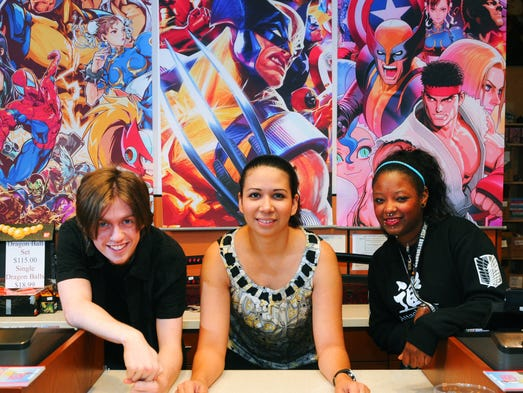 Left to right is Corey Boyer, store representative, Jacqueline Sistler, manager, and Lisa Valentin, store representative. Echo Arts & Gifts, located inside Melbourne Square Mall.They carry products like fine arts from Asia, including swords, teapots, and more, and Japanese anime products. They will participate in the Space Coast Nerd Fest on April 12th.