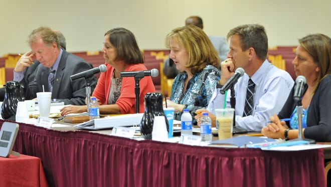 Members of the Brevard School Board.