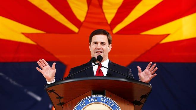 Arizona Governor Doug Ducey makes his Inaugural address on Monday, Jan. 5, 2015.