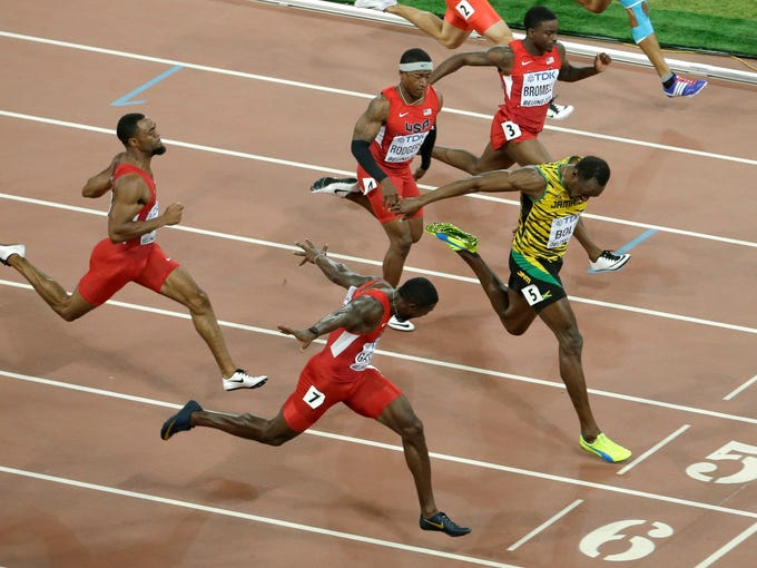 Usain Bolt wins 100-meter gold at World Championships