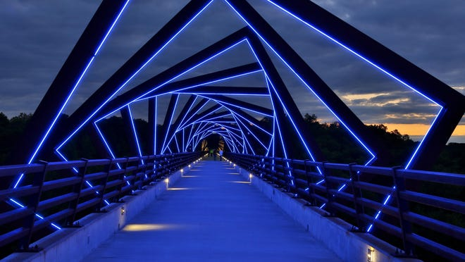 The High Trestle Trail Bridge is now the most popular segment of the region's more than 600 miles of trails, according to a new report.