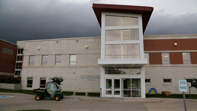 Exterior photograph of the Iowa Juvenile Home/Girls State Training School in Toledo, Iowa.