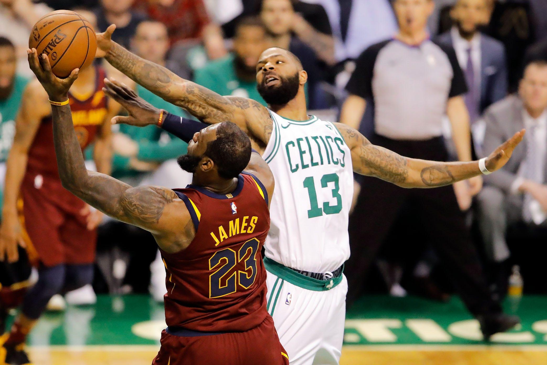 LeBron James stats in Cavs-Celtics Game