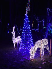 A view of Tim's Gay Christmas light display at his Union Vale home.