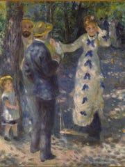 'The Swing (La Balançoire)' is a 1876 oil on canvas work by Renoir, Pierre-Auguste  (1841–1919).
