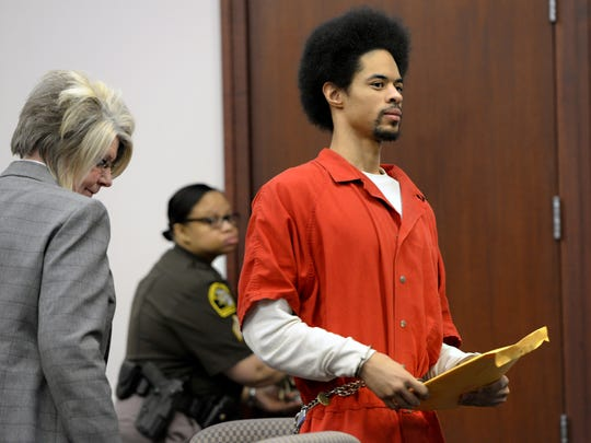 Marquay McCoy, 20, right, was sentenced to 32 to 48