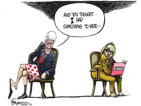 NO. 10: Hillary Clinton's e-mails