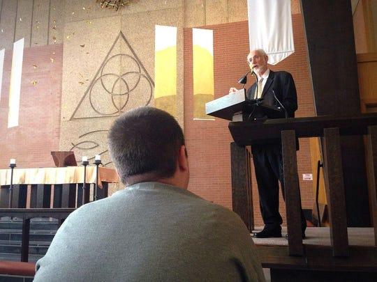 In this file photo, Rabbi Jeff Portman of Agudas Achim
