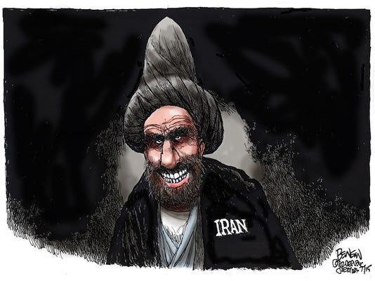 Benson cartoon Iran nuclear dear