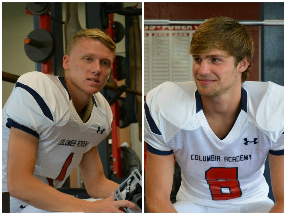 Mr. Football semifinalists Taylor Thompson (left) and Thomas Garrison (right) have helped lead a Bulldogs offense that is averaging nearly 50 points per game.