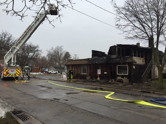 The Wayside Bar, a popular neighborhood bar and restaurant in Fond du Lac, was left a charred shell after a fire broke out inside on Wednesday.