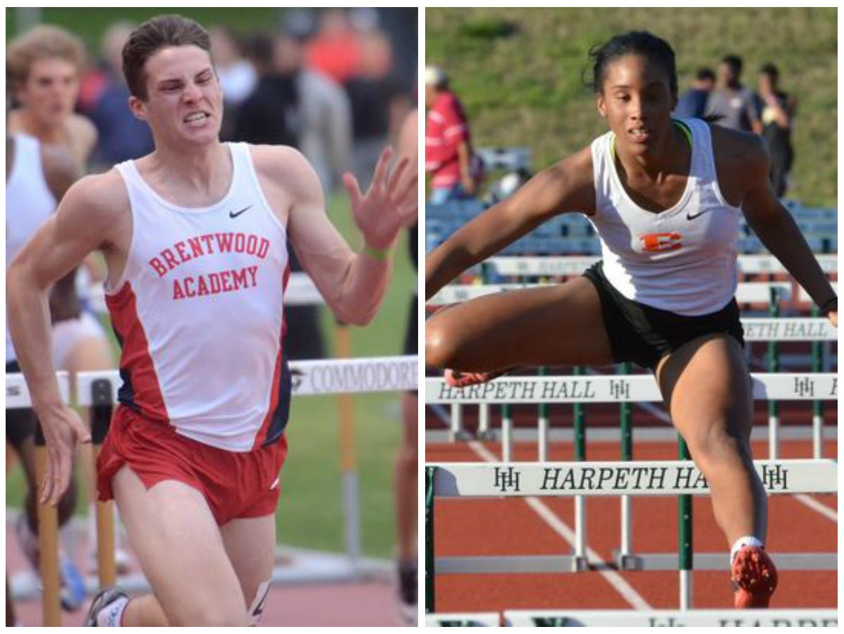 Brentwood Academy's George Patrick and Ensworth's Tyra Gittens