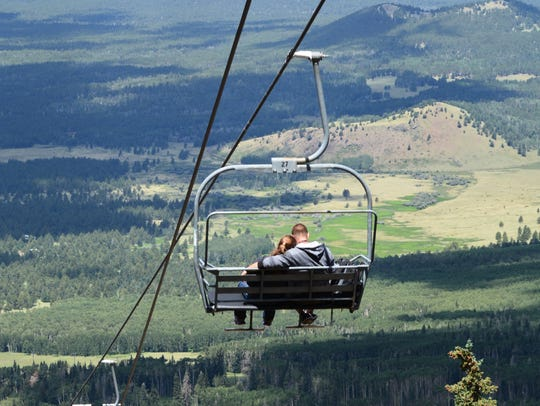 The stunning views from Arizona Snowbowl's Scenic Chairlift