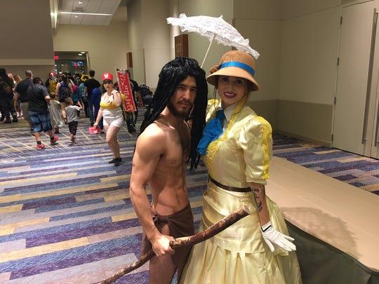 He Tarzan, she Jane. Kyle Cecil and Julia Flippen,