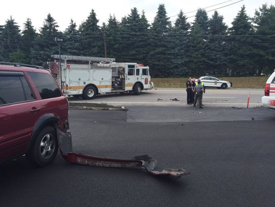 State police closed Route 30 after a crash with injuries