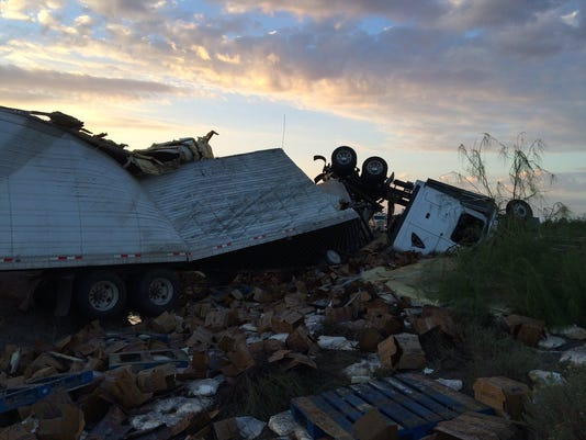 Fatal dairy truck crash