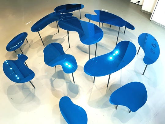 """""""Water Tables,"""" an installation by Gautam Rao."""