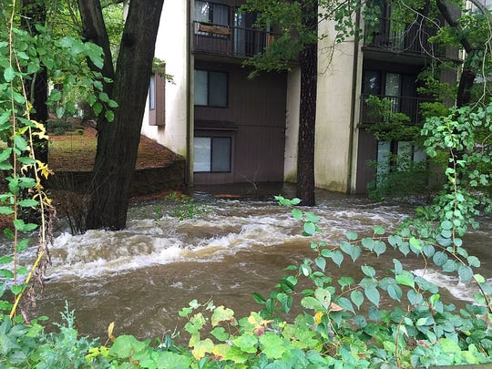 Buildings at Canal Woods in Salisbury were evacuated due to flooding.
