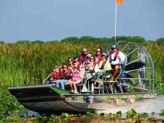 Airboat tours are popular at Blue Cypress Lake in western Indian River County.