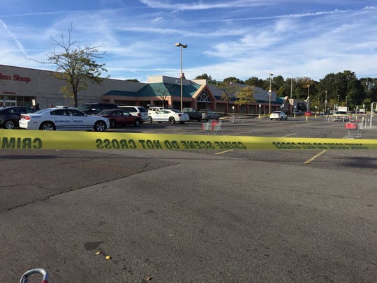 The scene of a fatal shooting at a Kmart in Raleigh.