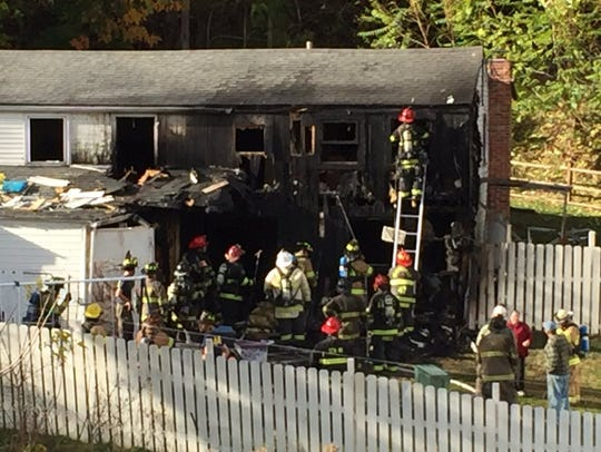 A fire in the 500 block of Bull Road in Lower Windsor
