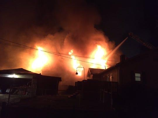 Fire at 204 W. Michigan St.