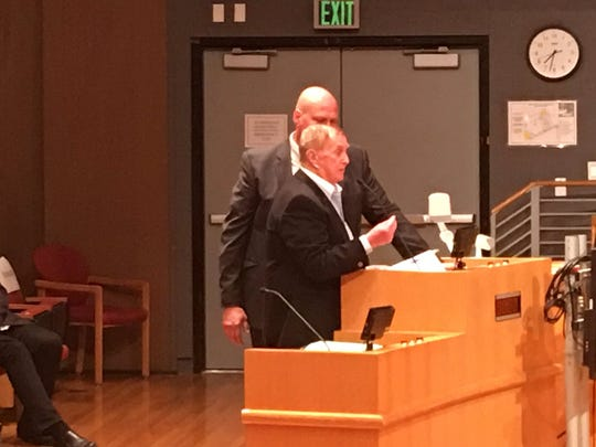 At Tuesday night's Thousand Oaks City Council meeting, longtime Conejo Valley developer Harry Selvin argued that the council should overrule the city Planning Commission's decision to forbid solar awnings on one of his office buildings.
