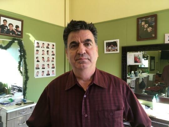Georges Nabil , owner of Meadtown Barber Shop in Kinnelon