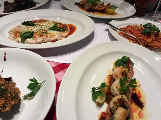 A $15 surcharge for dining on Italian fare at Cucina del Capitano includes a glass of wine.