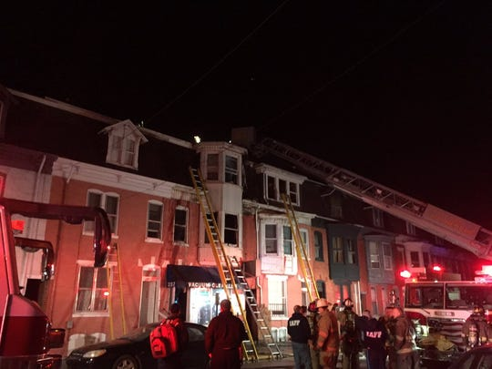 Crews responded to a fire that hospitalized one woman