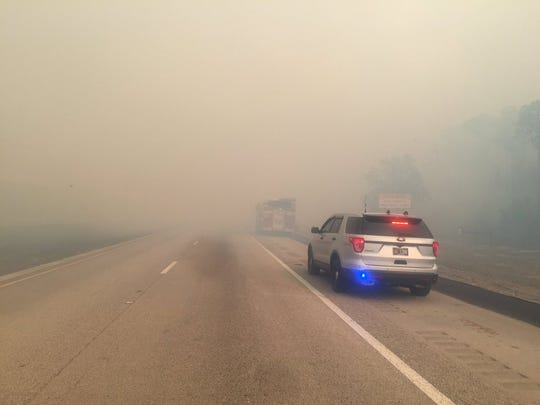 Visibility along Interstate 75 has worsened along Alligator