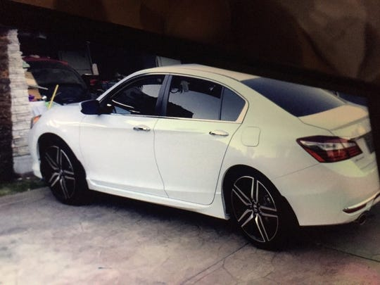 A photo of the Honda Accord, in which the Cortez brothers -- Jayden, 1 and Carlos, 2 -- were riding Thursday night when it was stolen.